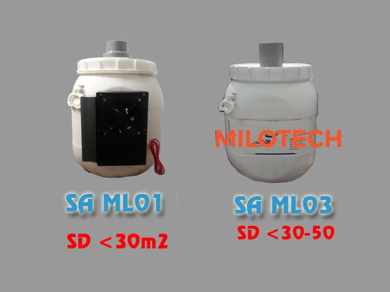Máy tạo ẩm thùng nhựa Milotech