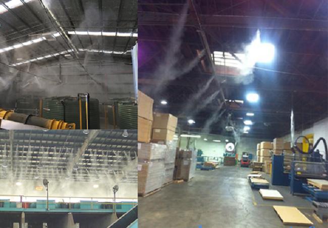 cách làm hệ thống phun sương nhà xưởng