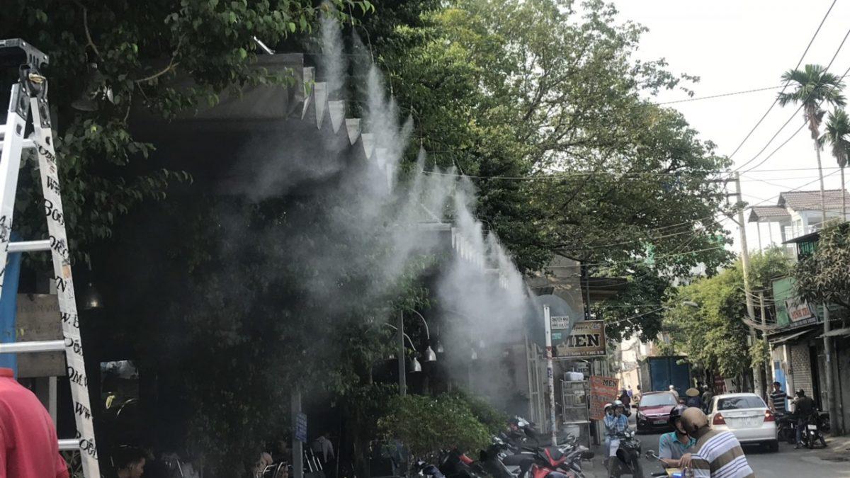 ứng dụng của máy phun sương