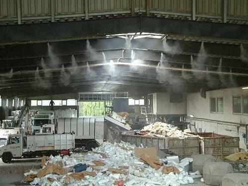 thực tế máy phu sương cho nhà xưởng có dập được bụi
