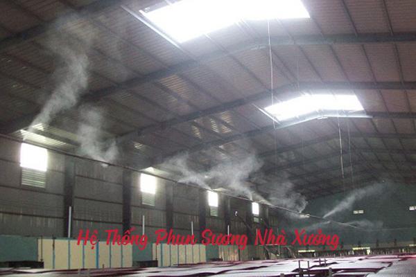 hệ thống máy phun sương nhà xưởng