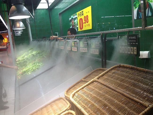 máy phun sương bảo quan thực phẩm
