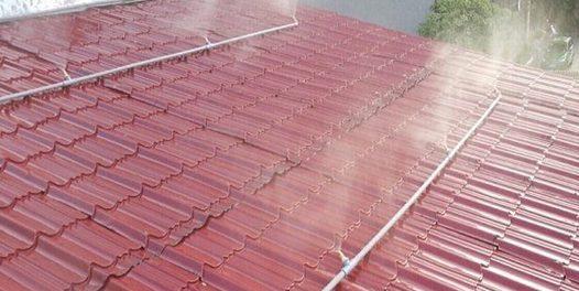 hệ thống phun nước trên mái tôn
